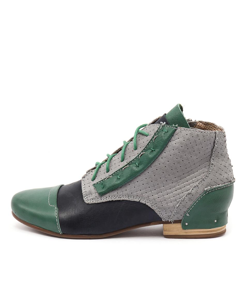 Django & Juliette Dazing Spearmint Multi Casual Ankle Boots