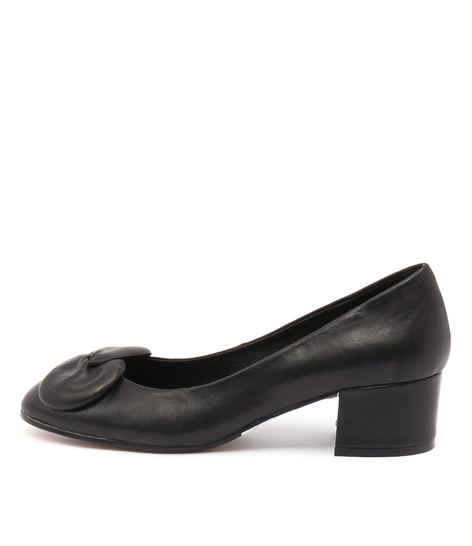 Django & Juliette Grollo Black Casual Heeled Shoes