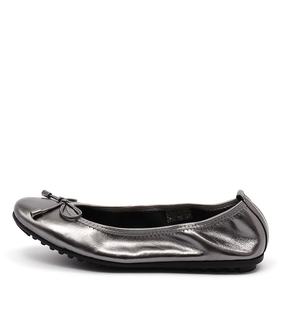 Django & Juliette Belin Pewter Casual Flat Shoes