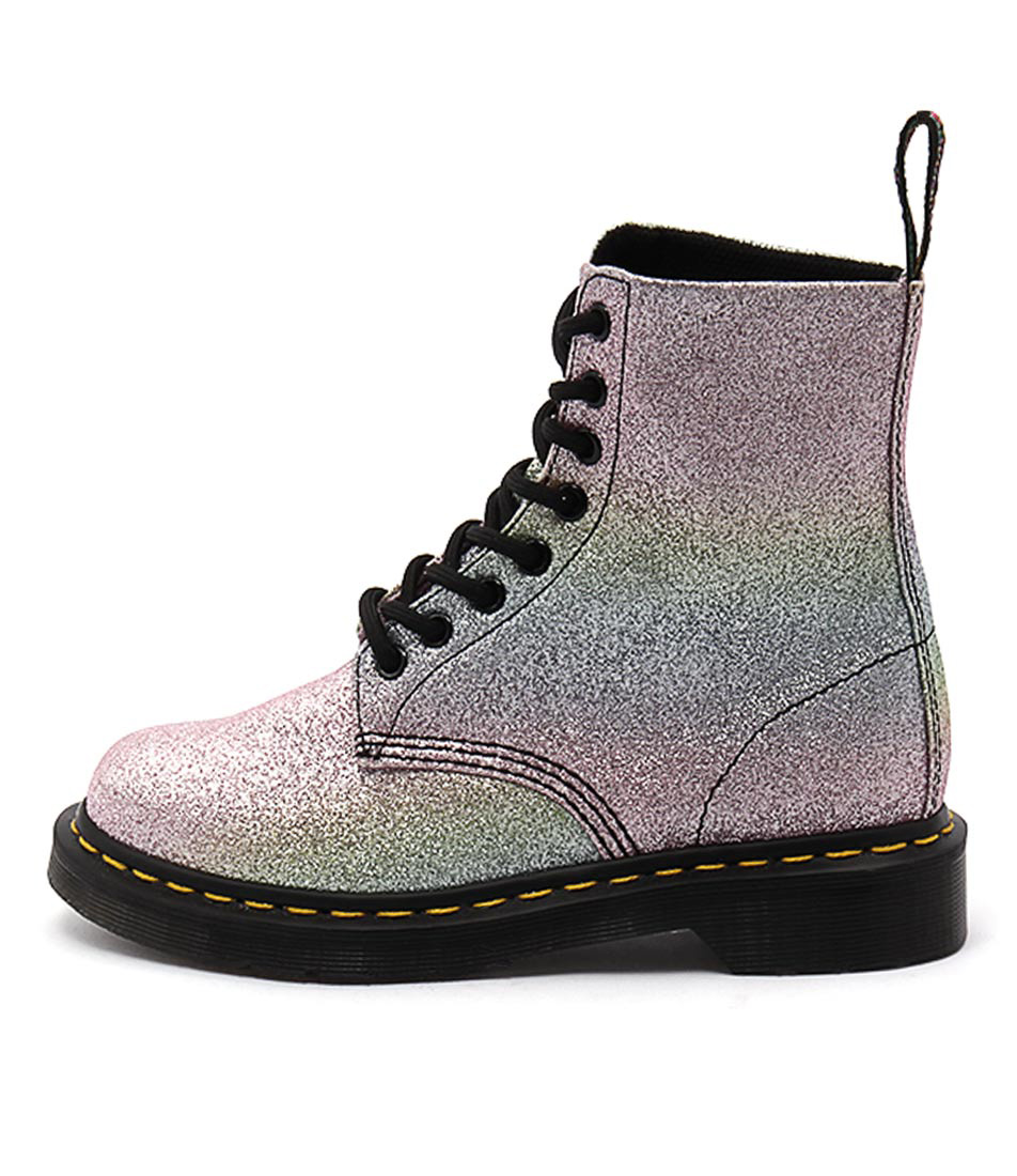 Dr Marten Pascal 8 Eye Boot Multi Glitter Ankle Boots