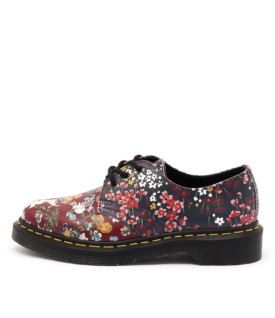 Dr Marten Pascal Floral Clash 1461 3 Eye Multi Flat Shoes