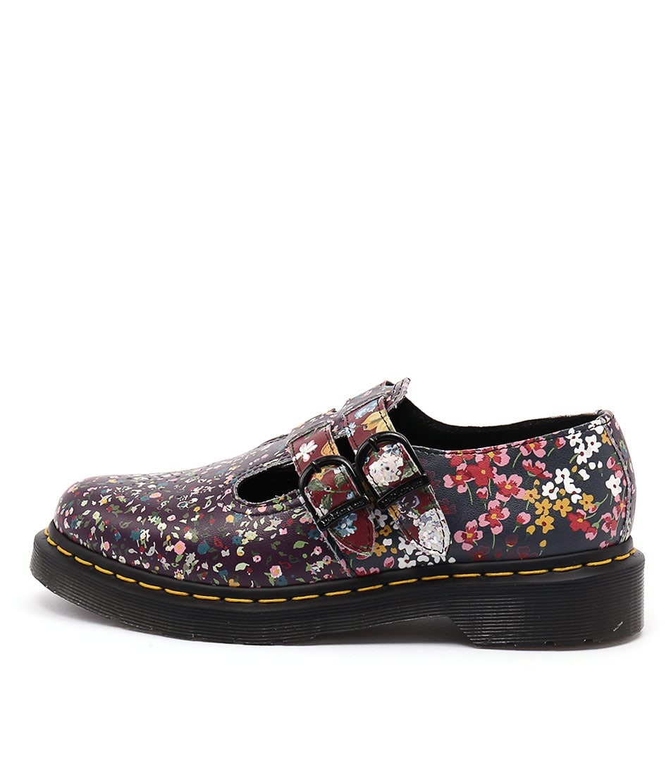 Dr Marten Pascal Floral 8065 Mary Jane Multi Flat Shoes