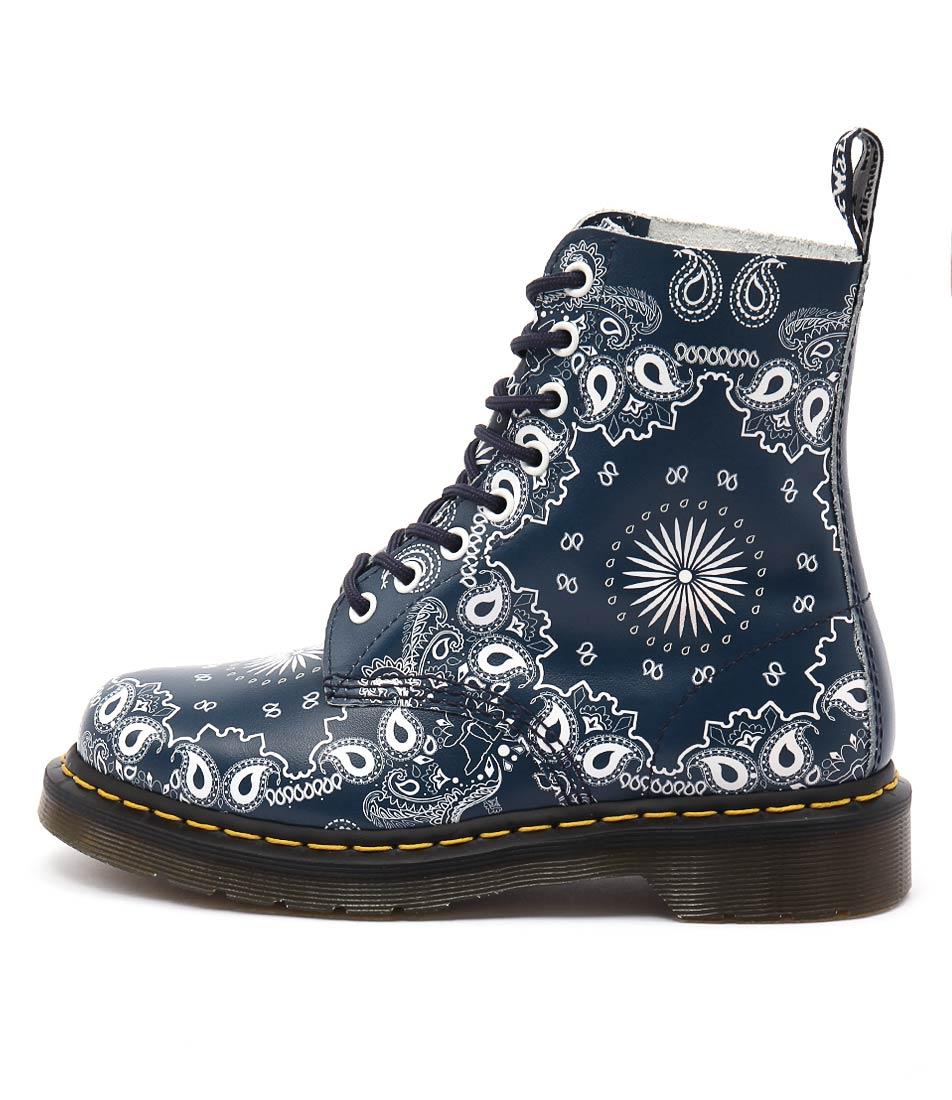 Dr Marten Pascal 8 Eye Boot Bandana Ankle Boots