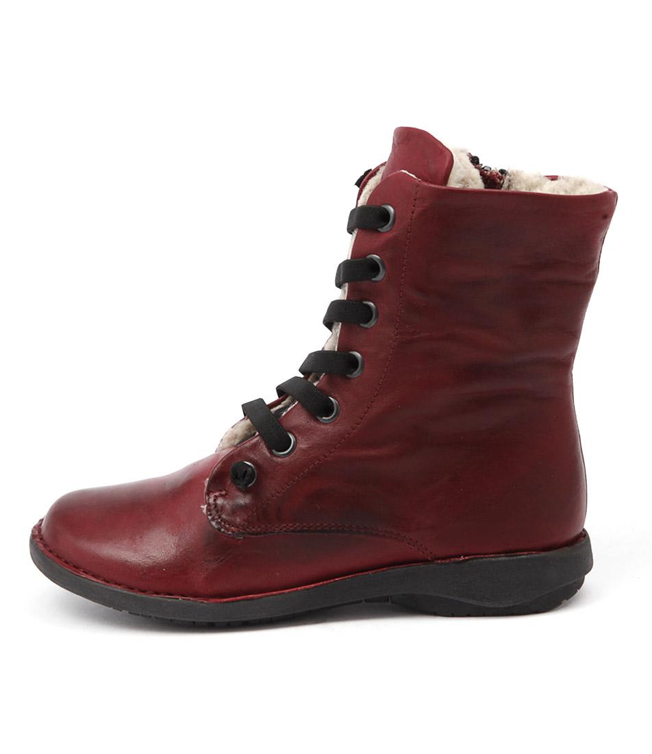 Effegie Sukida W Bordeaux Ankle Boots