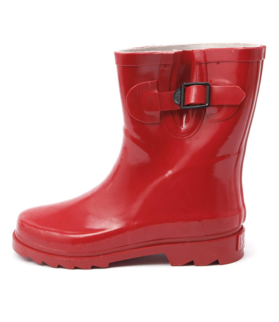 Gumboots Short Chilli Chilli Red Ankle Boots