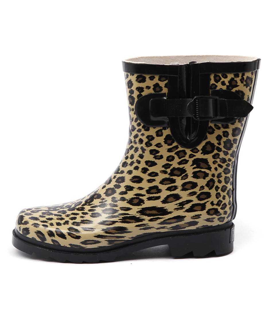 Gumboots Short Leopard Leopard Ankle Boots womens shoes online