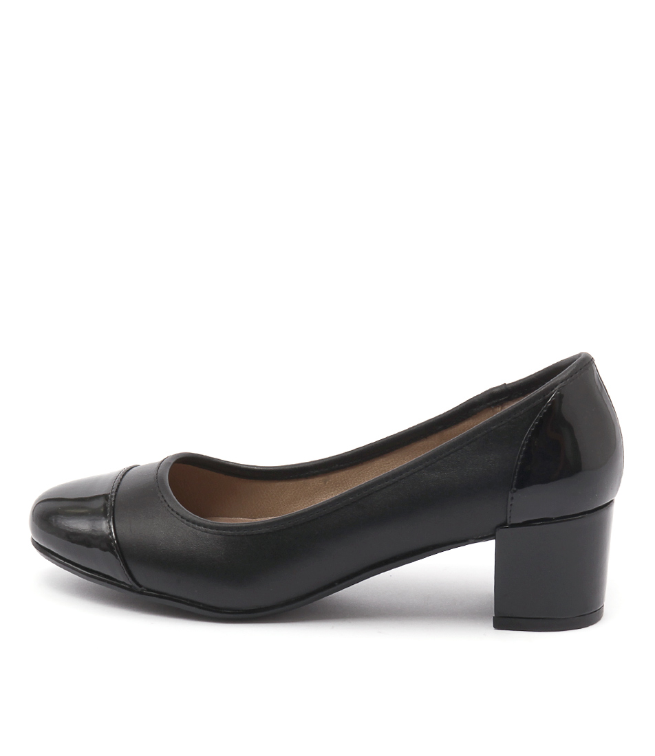 Hush Puppies Farrah Black Heeled Shoes