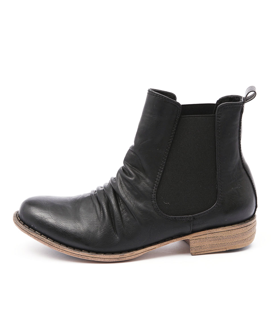 I Love Billy Welly Black Casual Ankle Boots
