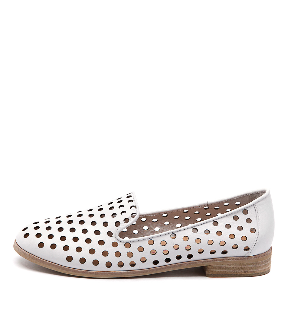 Mollini Queff White Casual Flat Shoes