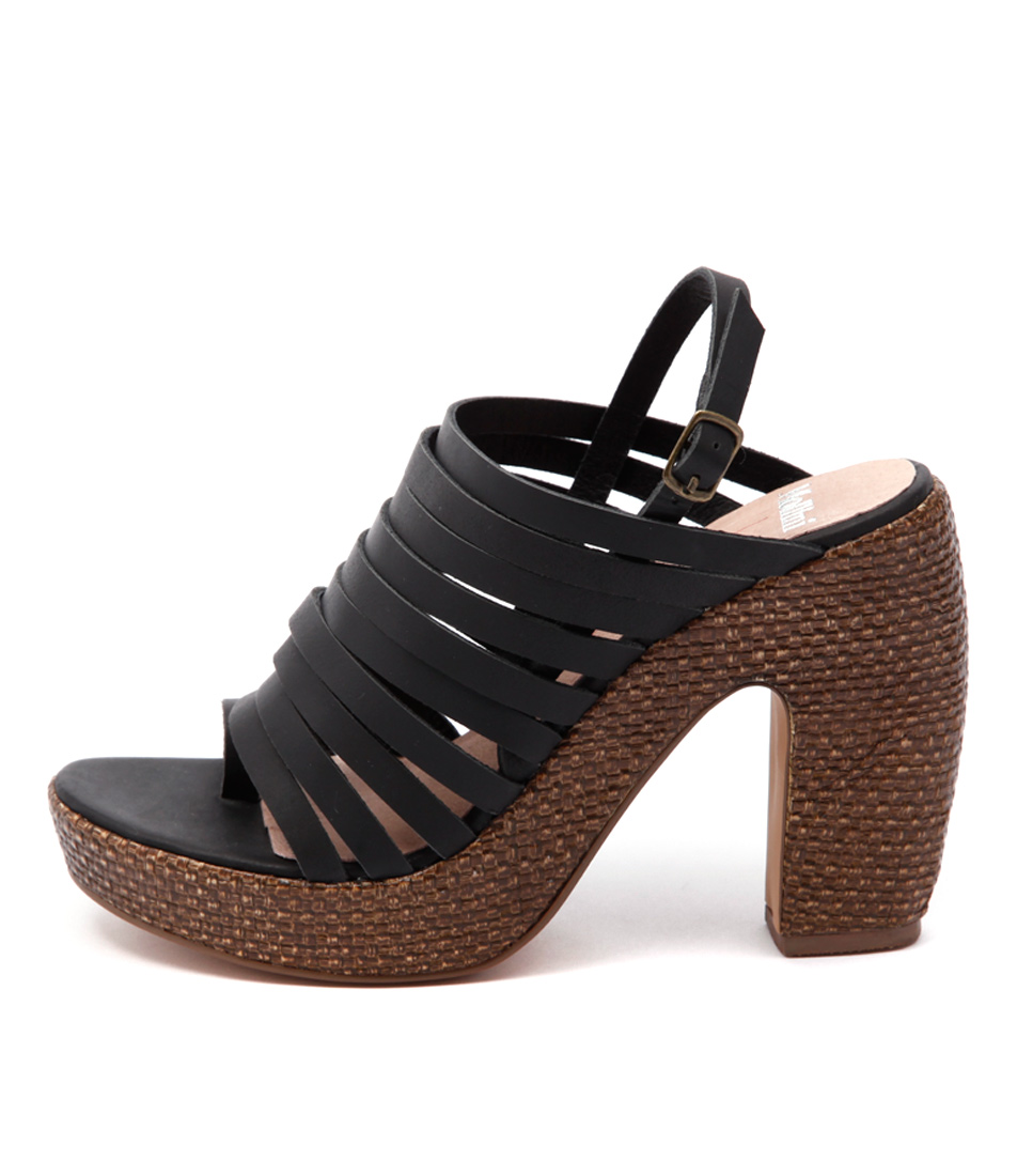 Mollini Denit Mo Black Chocolate Sandals