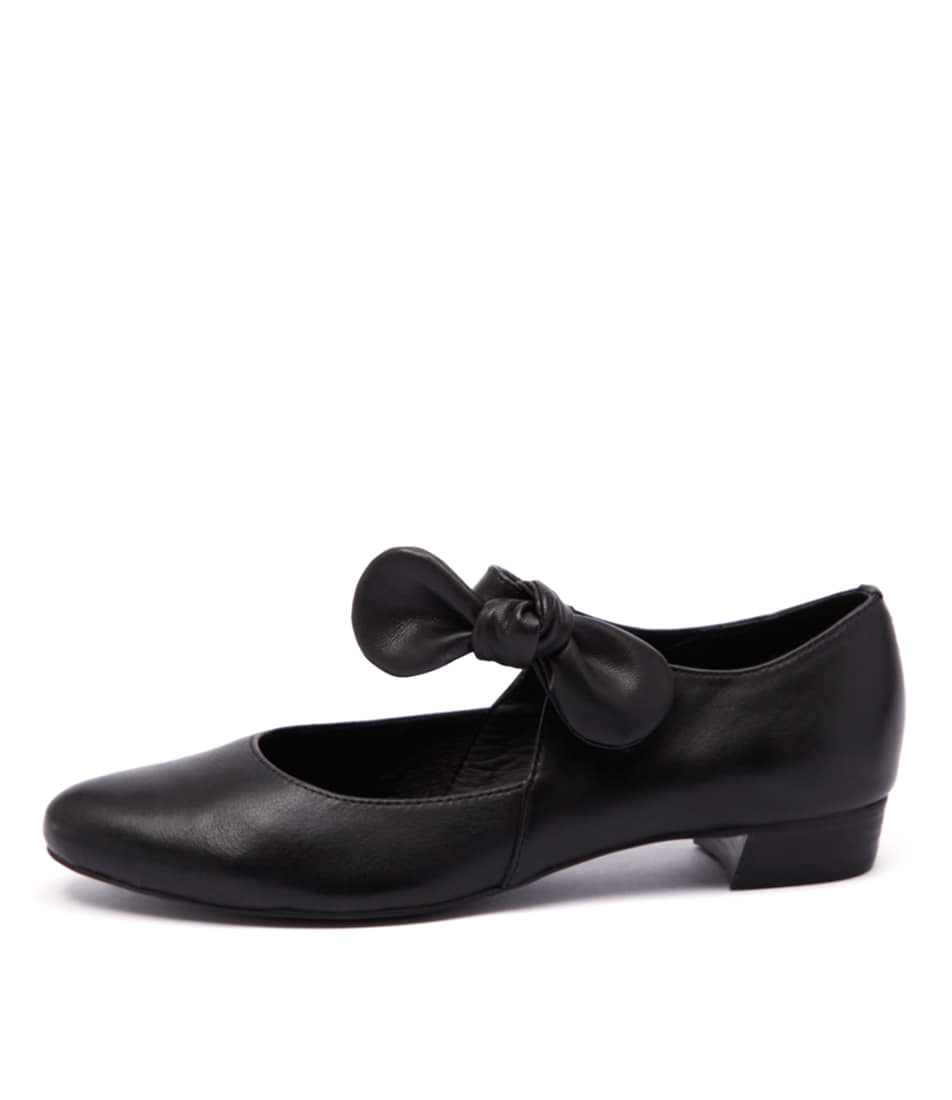 Django & Juliette Eco Black Flat Shoes