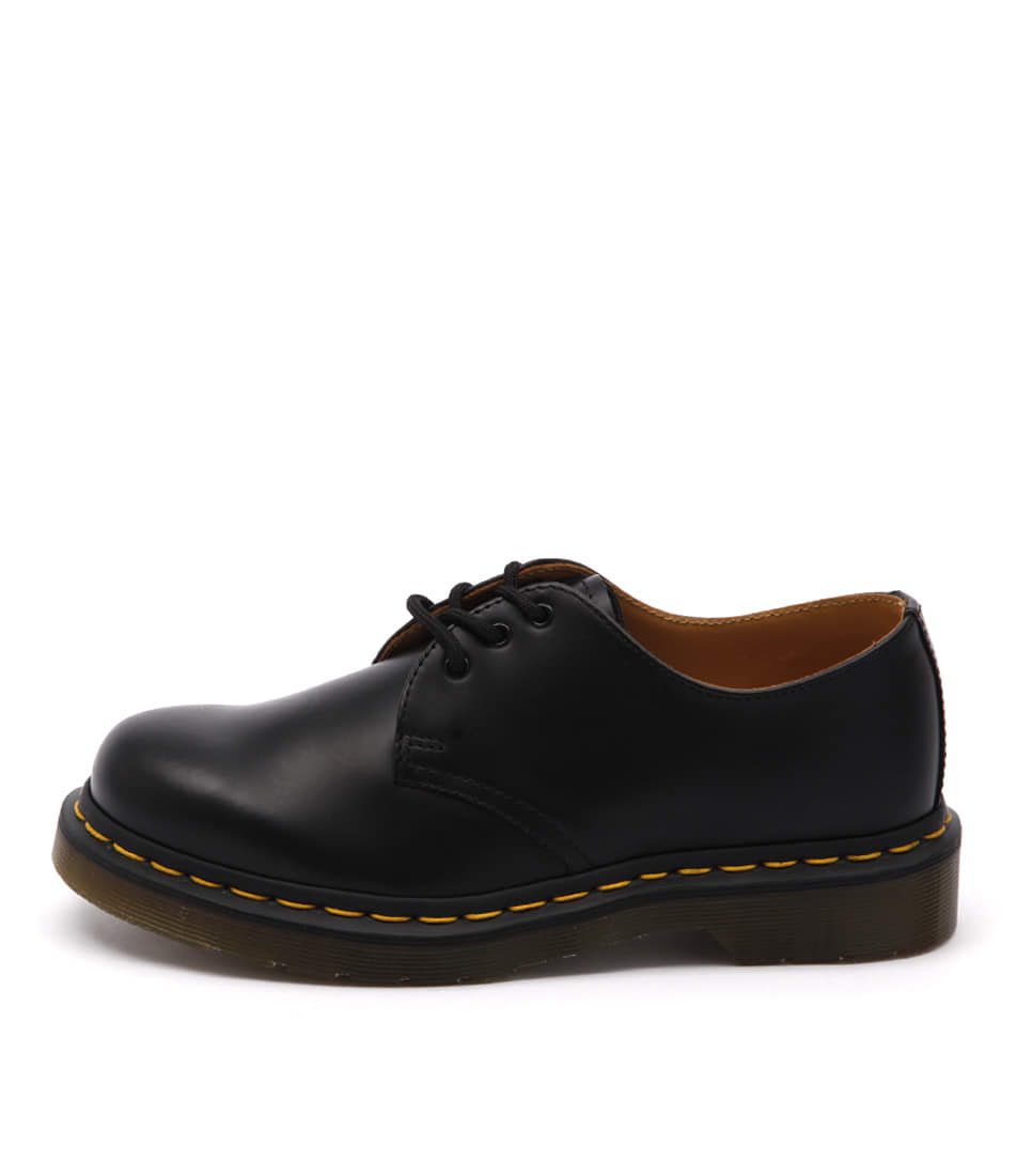 Dr Marten 1461 3 Eye Gibson Black Flat Shoes