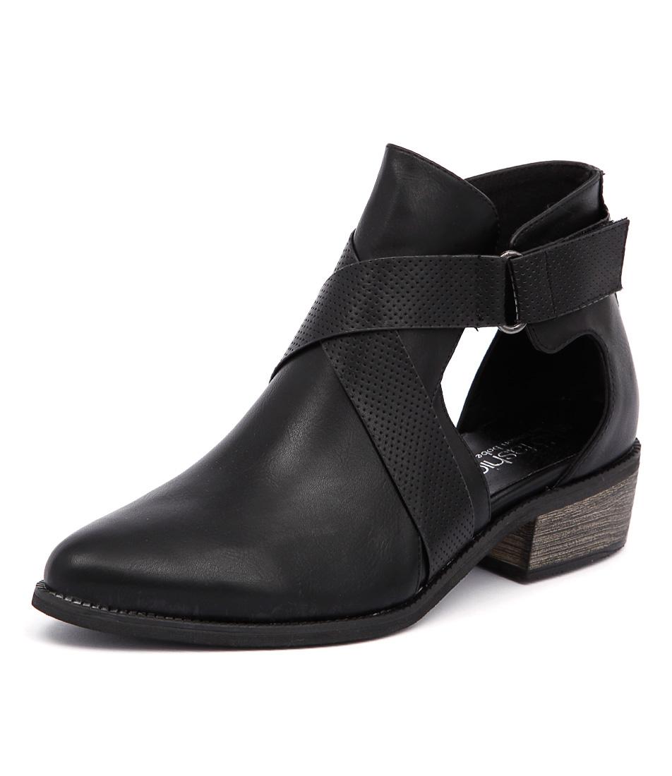 Ko Fashion Fremont Black Ankle Boots