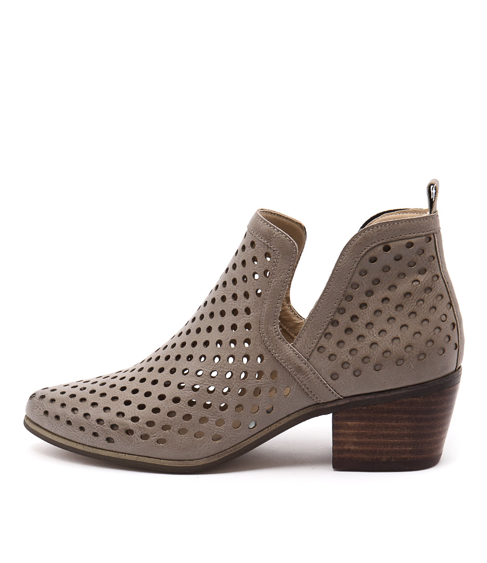 Lavish Lillie Lv Grey Casual Ankle Boots