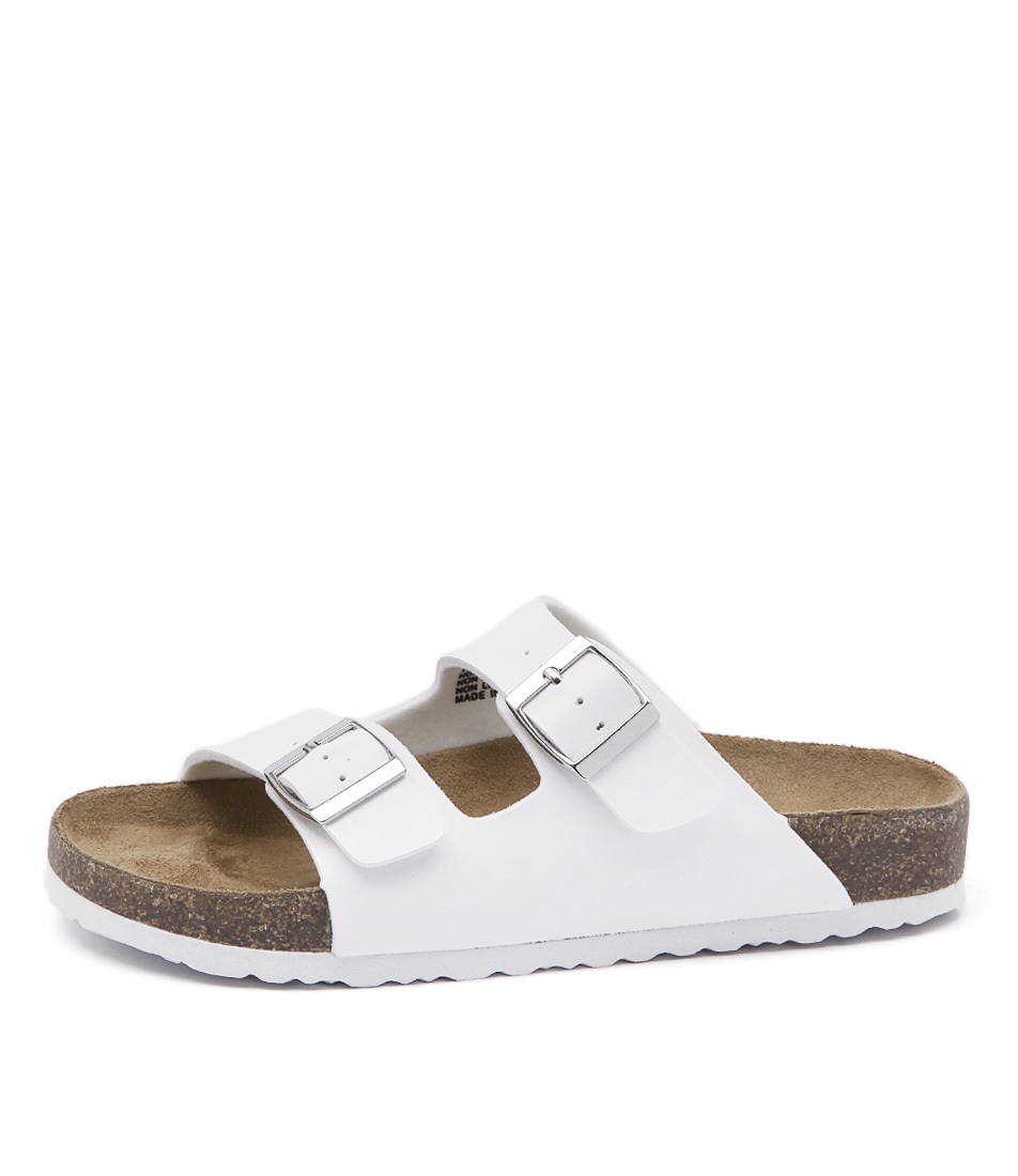New Lipstik Toffee White Womens Shoes Casual Sandals Sandals Flat