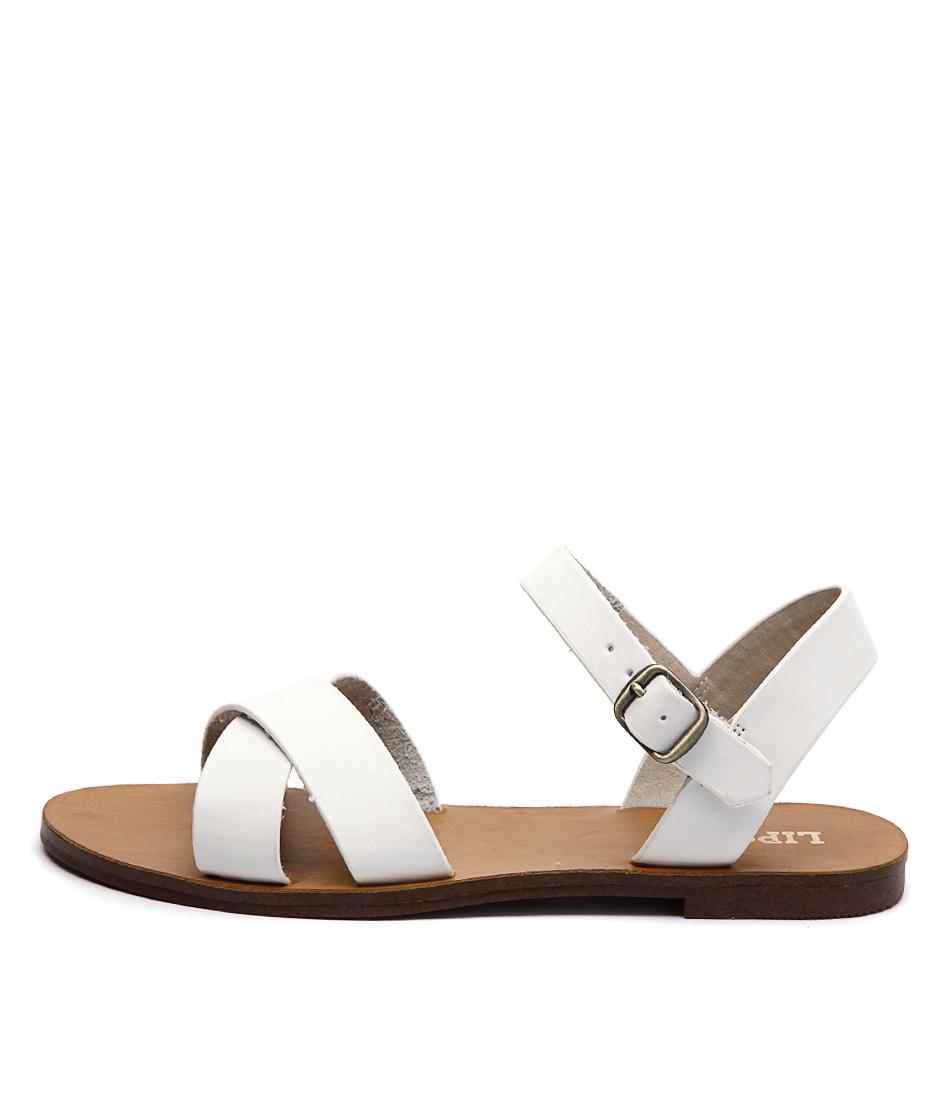 Lipstik Bamboo Li White Sandals