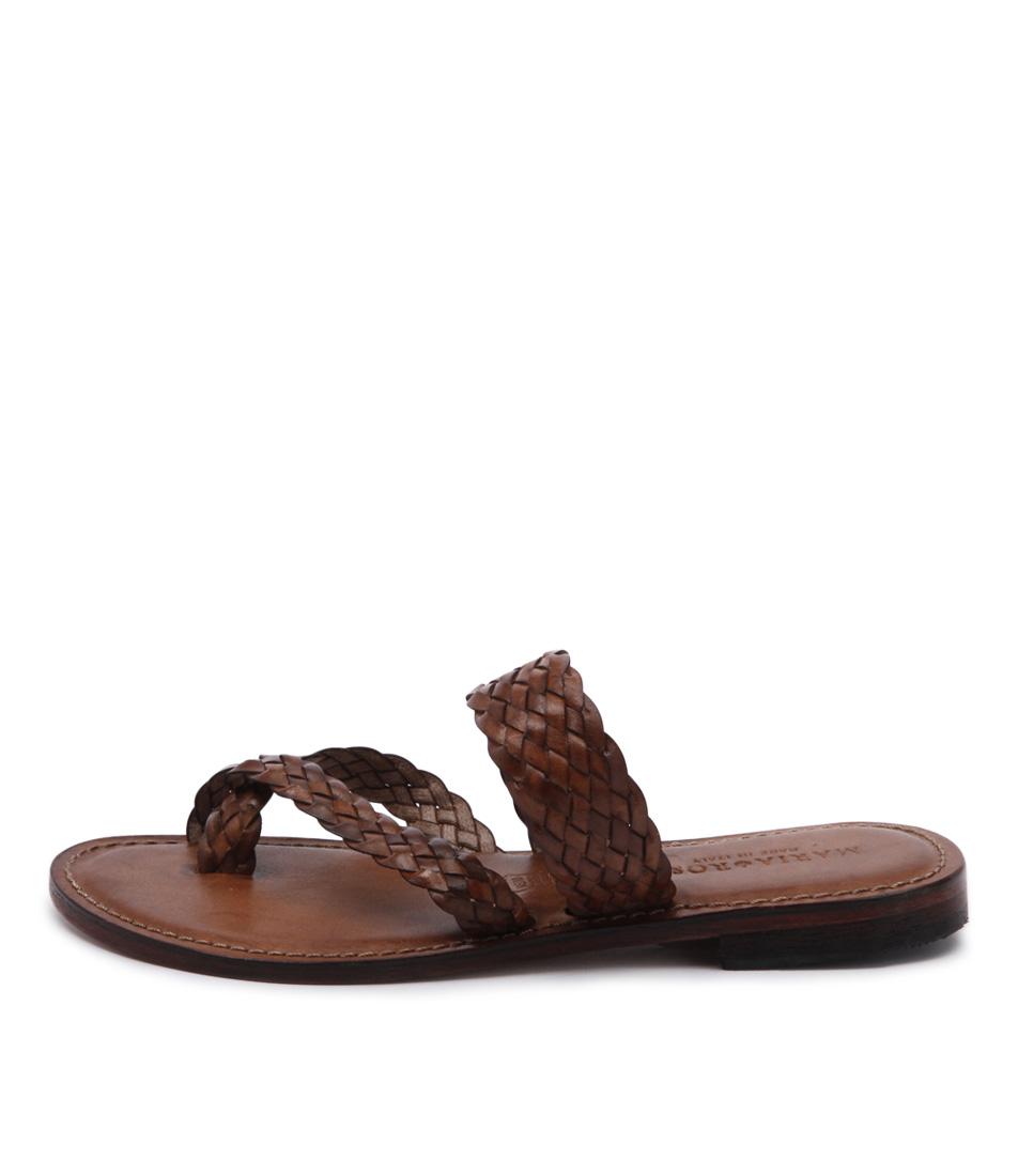 Maria Rossi Elana 1104 Tan Casual Flat Sandals