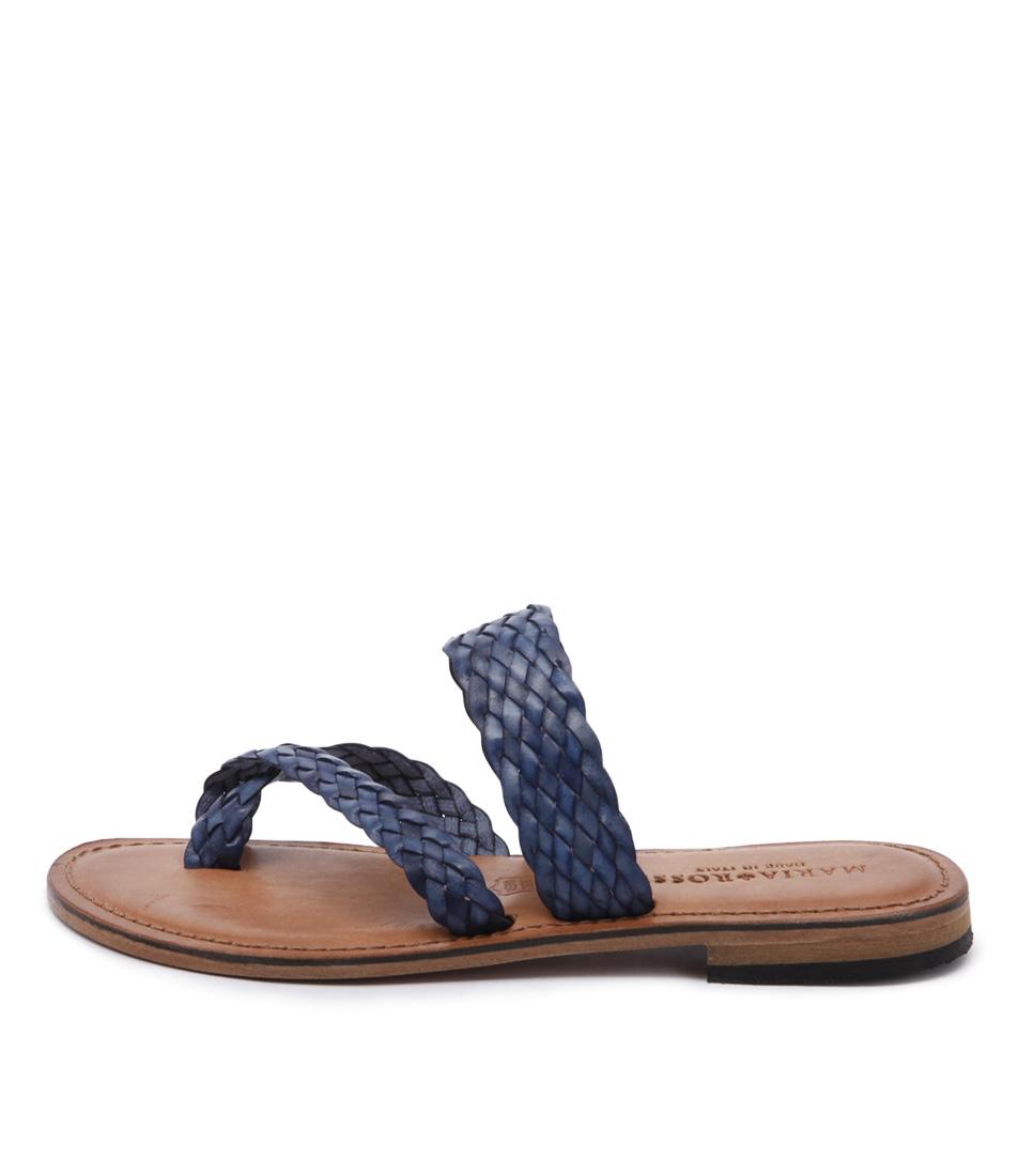 Maria Rossi Elana 1104 Blue Casual Flat Sandals
