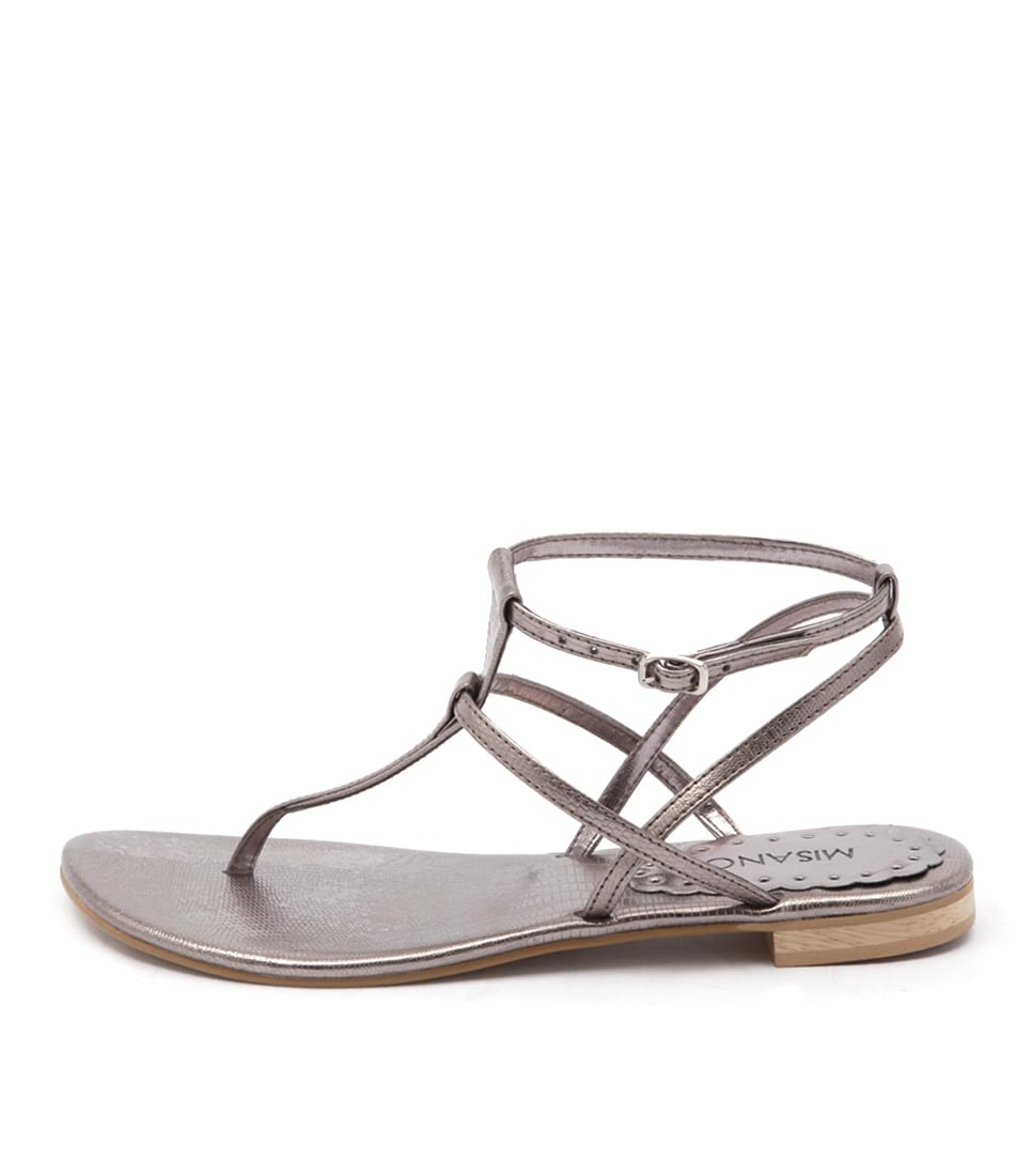 Misano Shizu Us Pewter Casual Flat Sandals