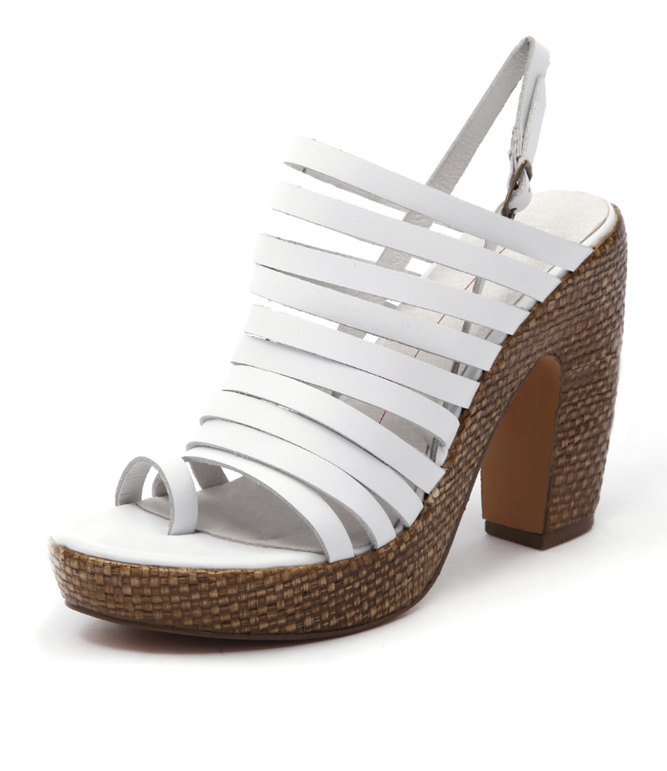 Mollini Denit Mo White Chocolate Sandals