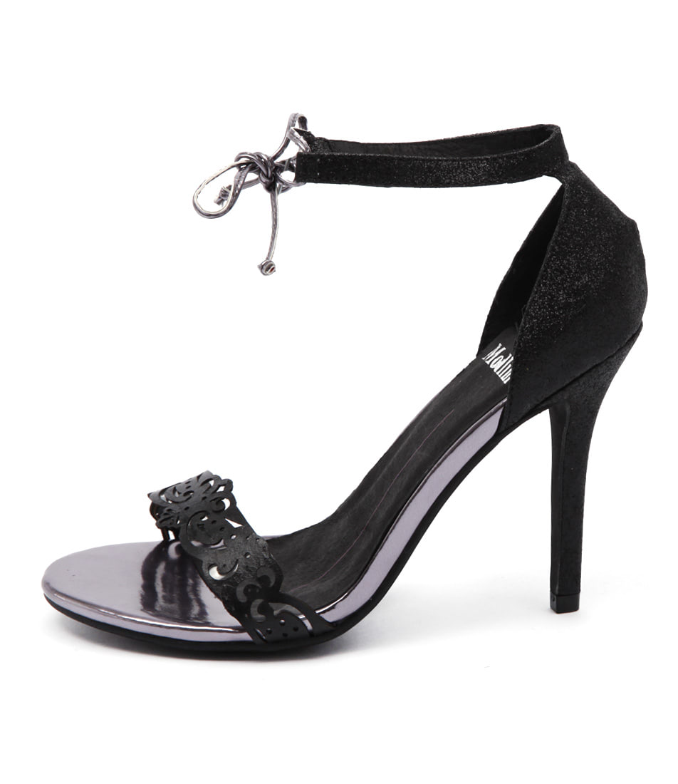 Mollini Lozzy Black Party Heeled Sandals