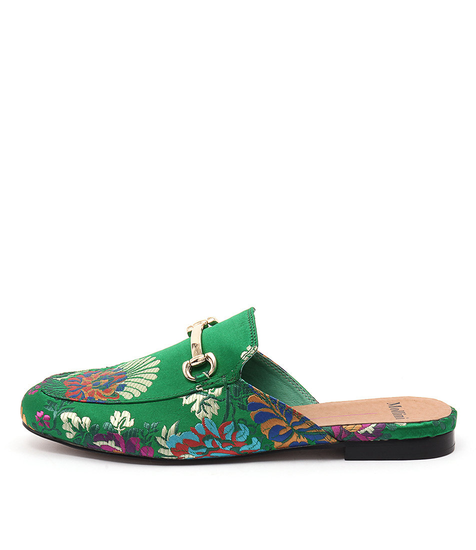 Mollini Gracelee Emerald Jacquar Flat Shoes
