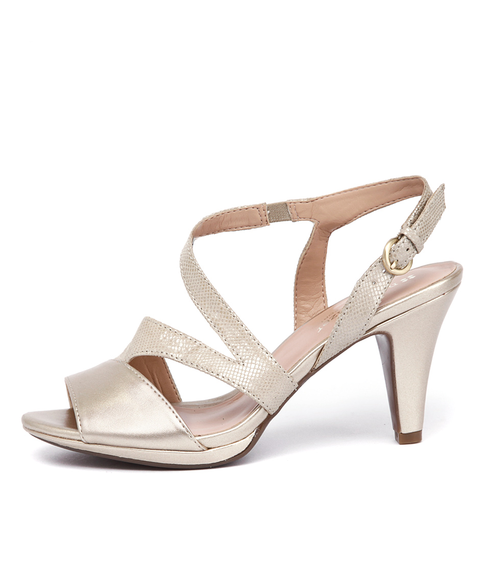 Naturalizer Impulse Gold Iguana Casual Heeled Sandals