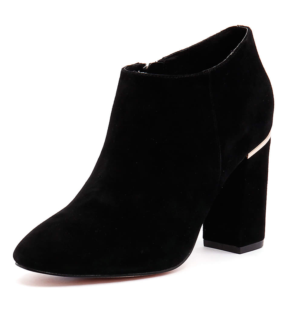 Nude Pure Black Ankle Boots