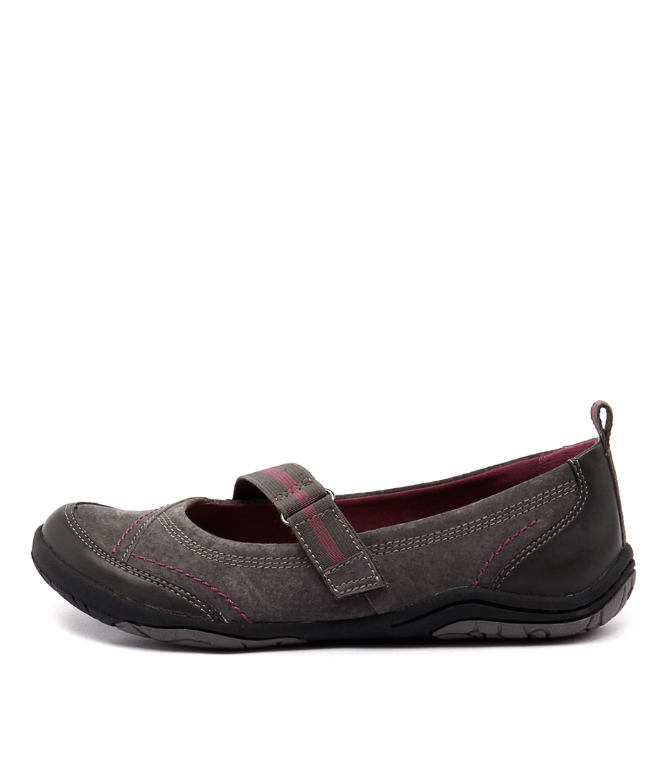 Planet Barika Pl Iron Grey Flat Shoes