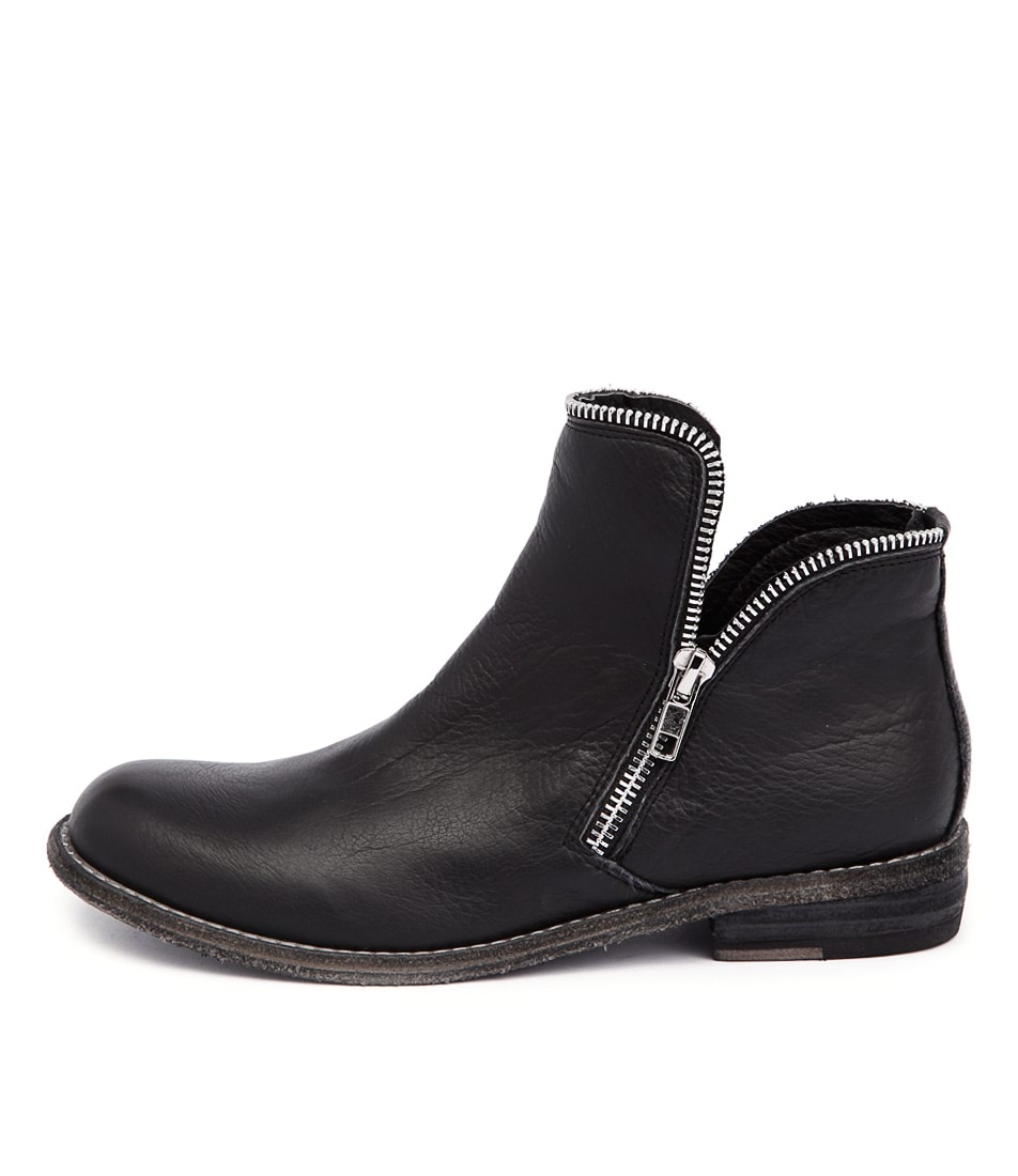 Silent D Crow Black Casual Ankle Boots