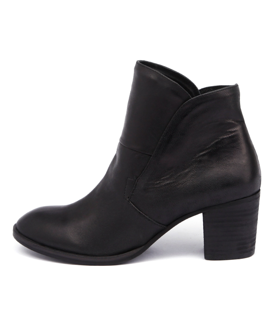 Silent D Winter Black Ankle Boots