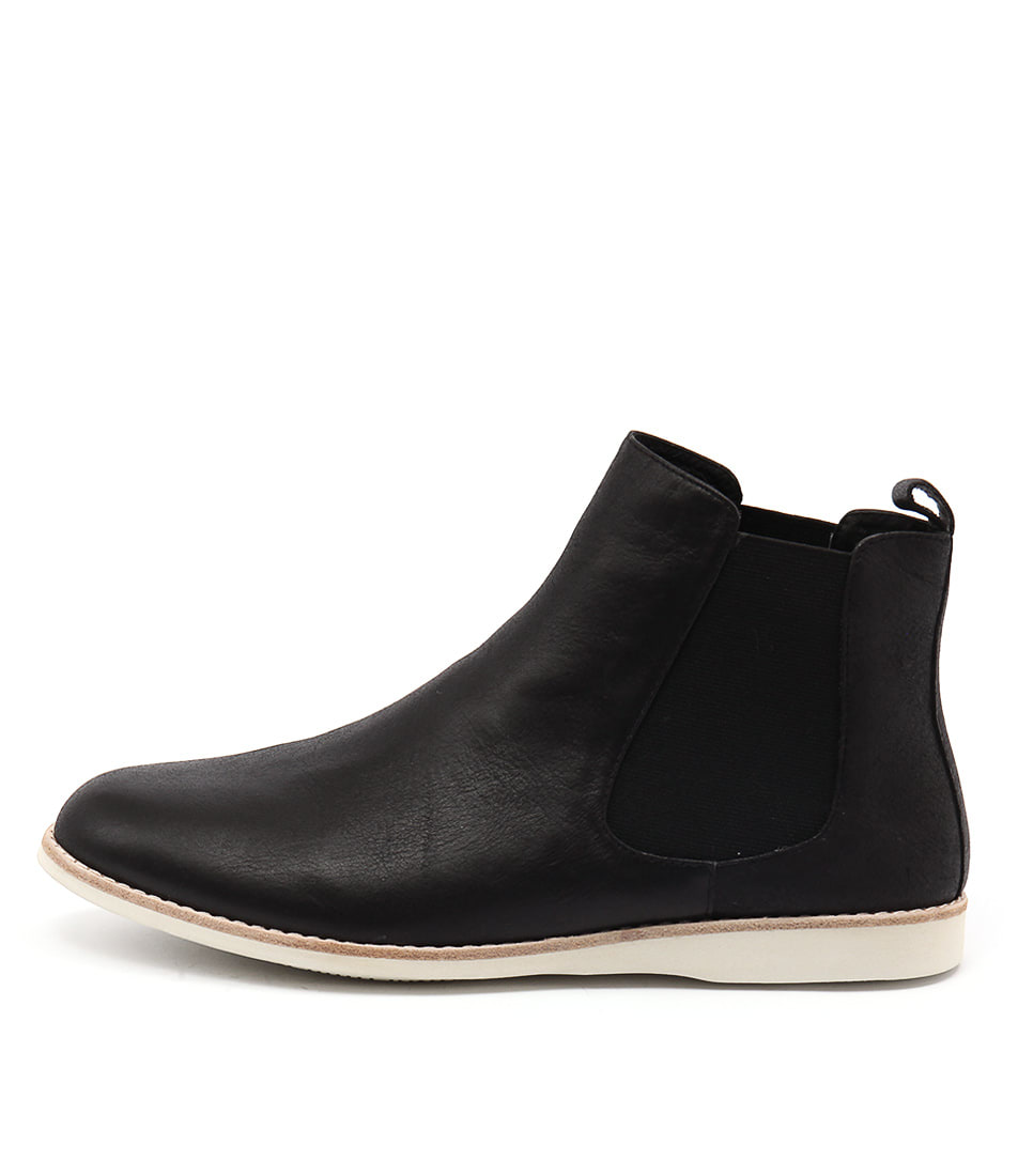 Silent D Nearly Black Casual Ankle Boots