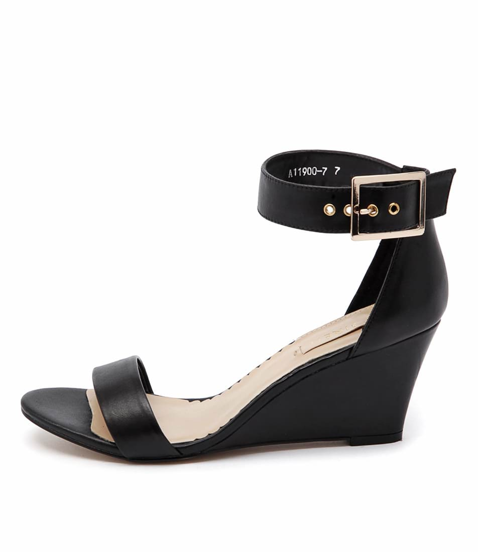 Siren Jonas Black Dress Heeled Sandals