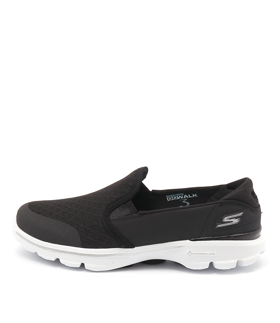 Skechers 14078 Go Walk Accomplish Black White Sandals