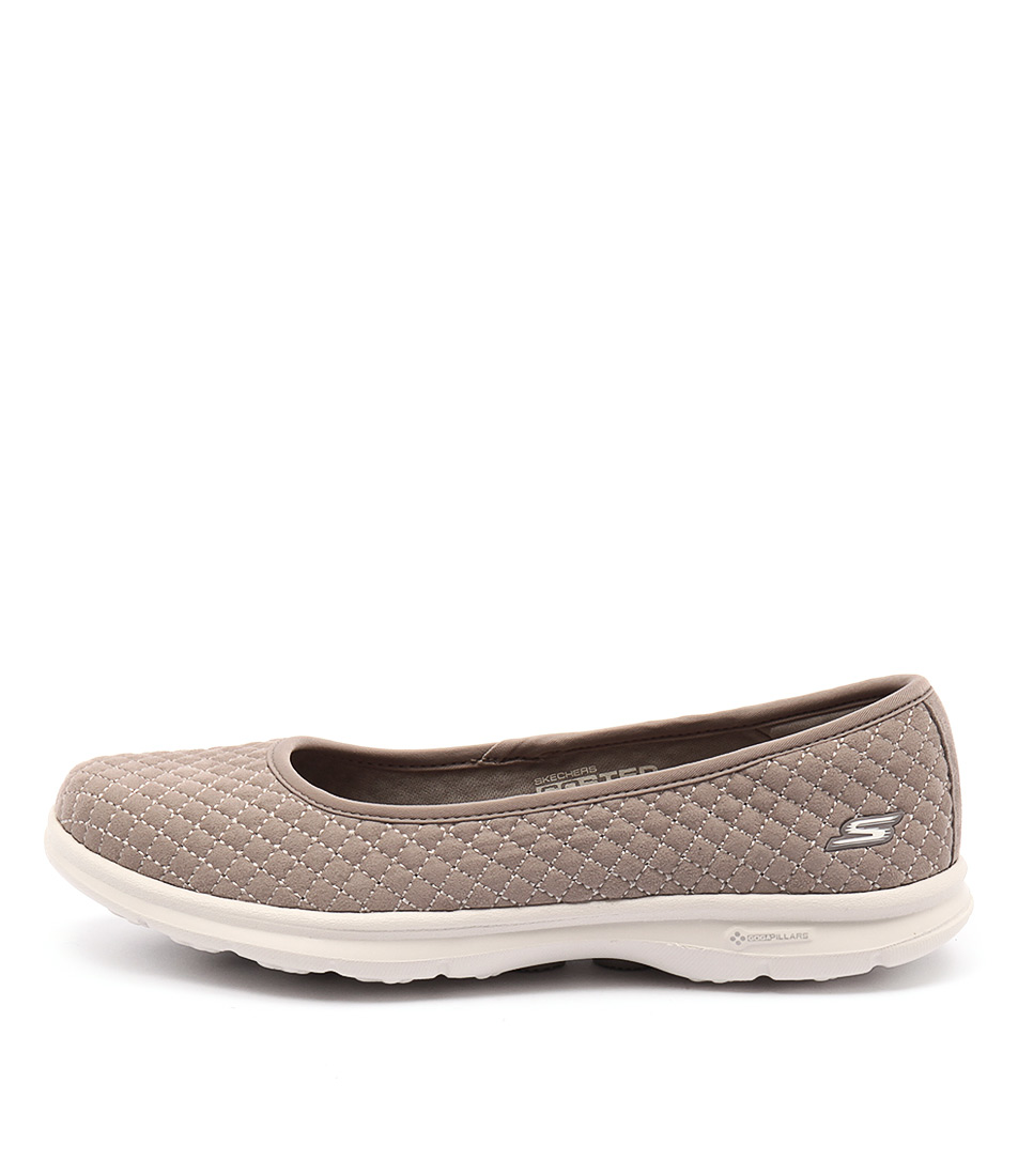 Skechers 14320 Go Step Perky Quilted Taupe Sneakers