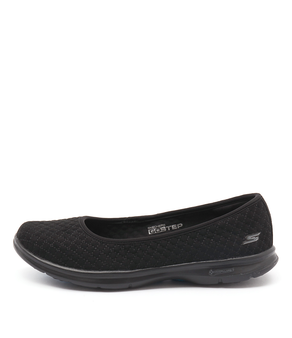 Skechers 14320 Go Step Perky Quilted Black Sneakers