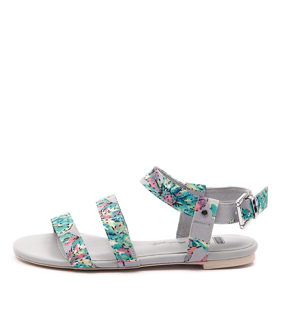 Skin Parker Green Floral Multi Sandals