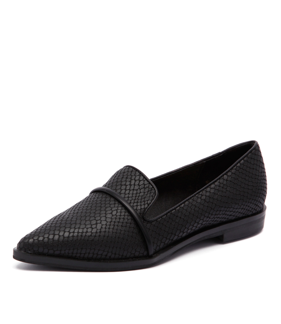 Skin Alpine Sn Black Dress Flat Shoes