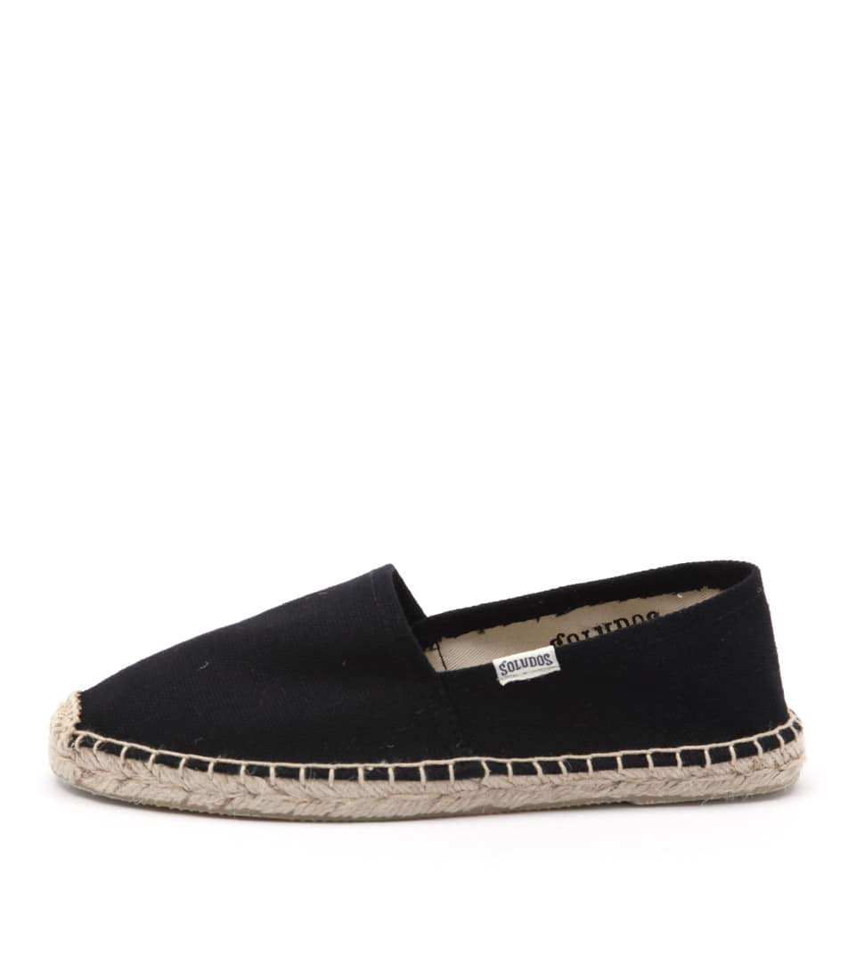 Soludos Original Canvas Dali Black Flat Shoes