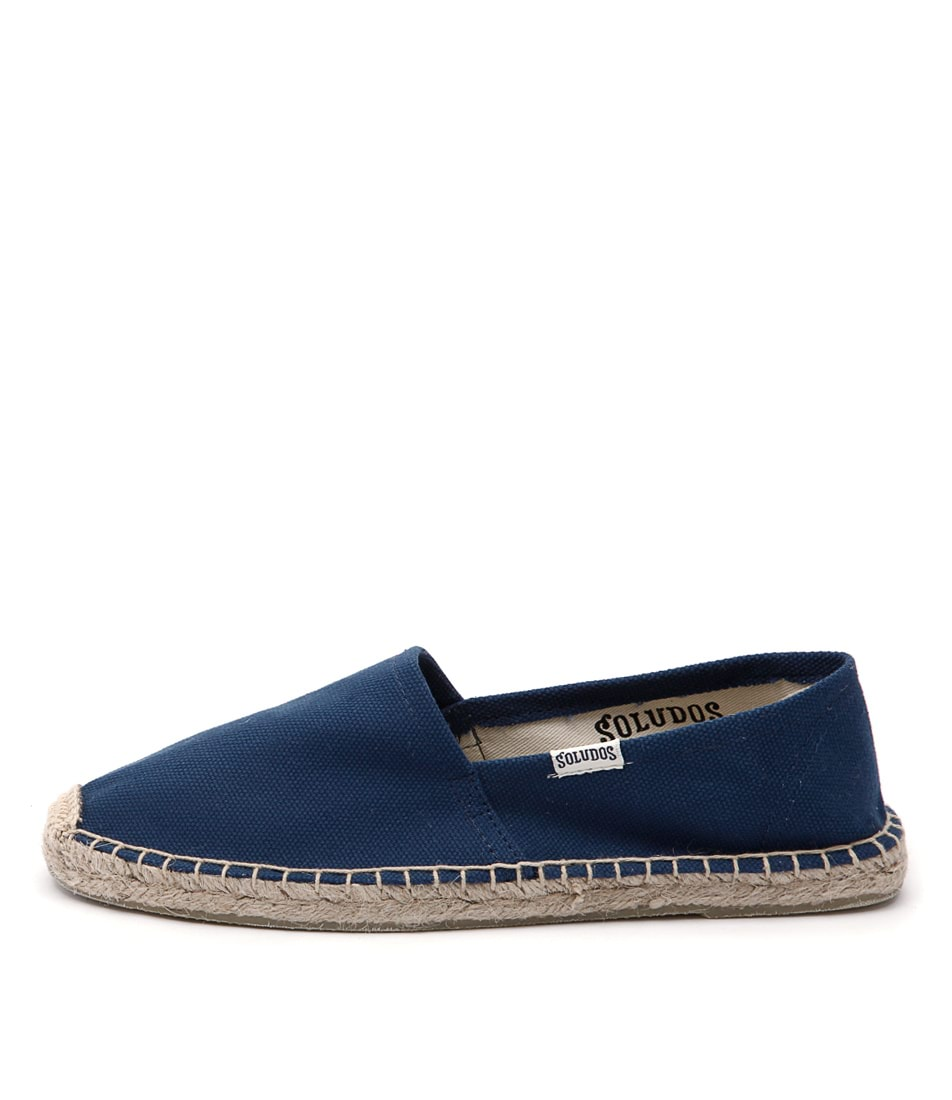 Soludos Original Canvas Dali Navy Flat Shoes
