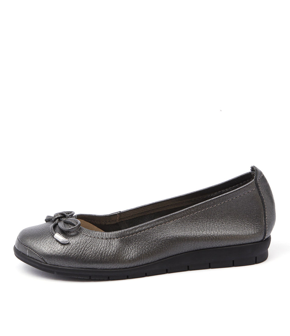 Supersoft Flex Gunmetal Flats
