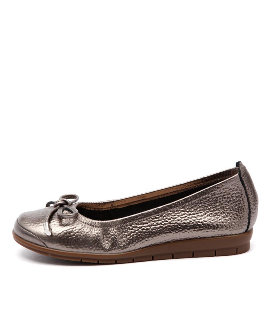 Supersoft Flex Pewter Metallic Flat Shoes