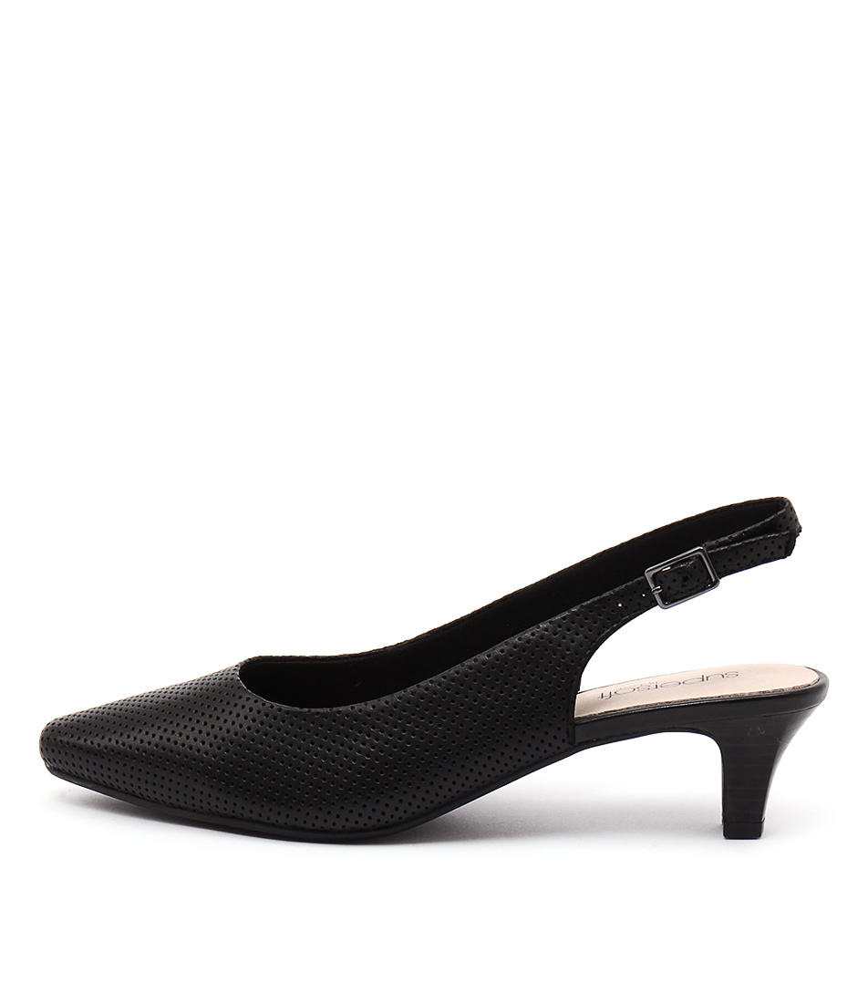 Supersoft Lexi Su Black Casual Heeled Shoes