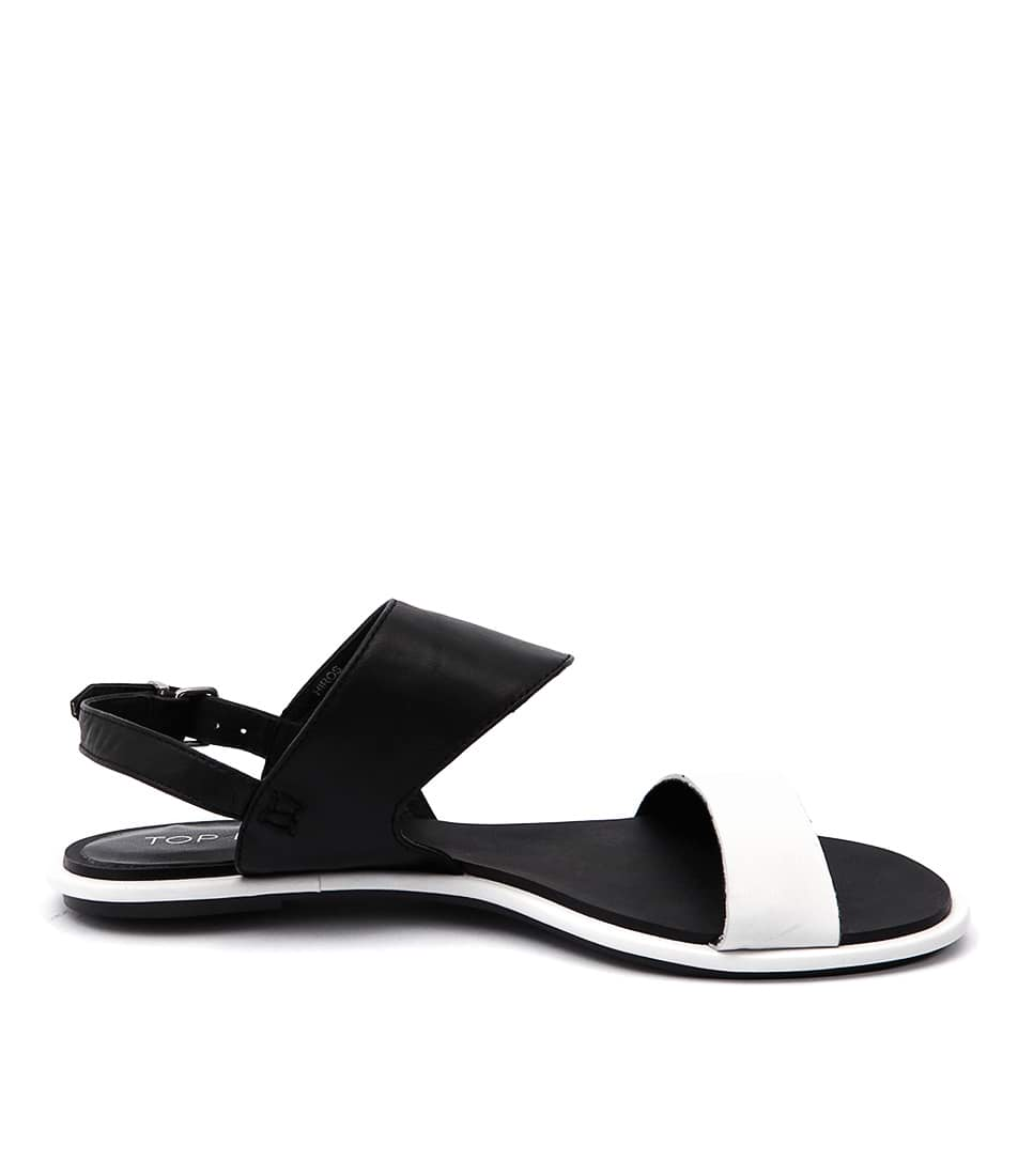Top End Hiros To White Black Casual Flat Sandals