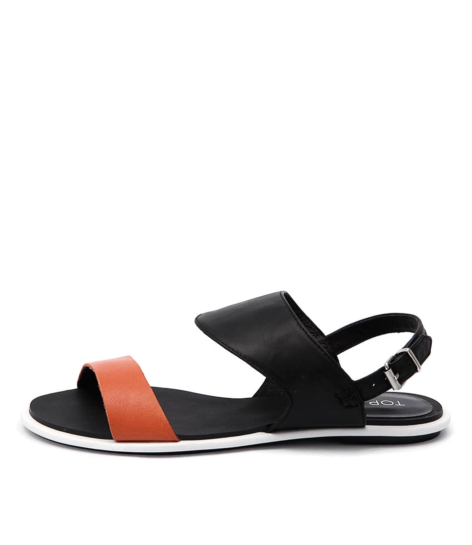 Top End Hiros To Orange Black Casual Flat Sandals