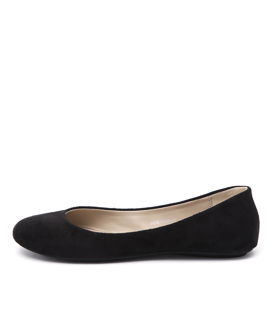 Verali Tess Black Casual Flat Shoes
