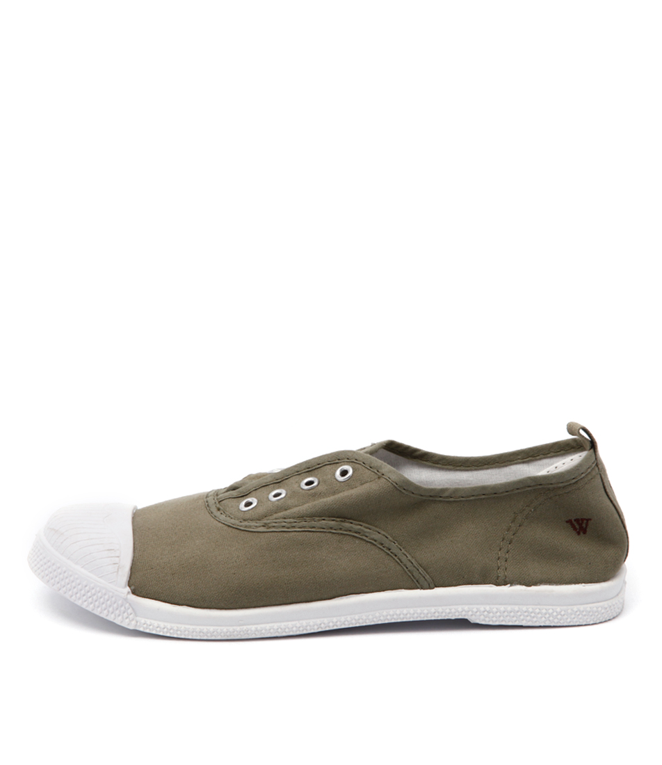 Buy Walnut Euro Plimsole Khaki Sneakers online with free shipping