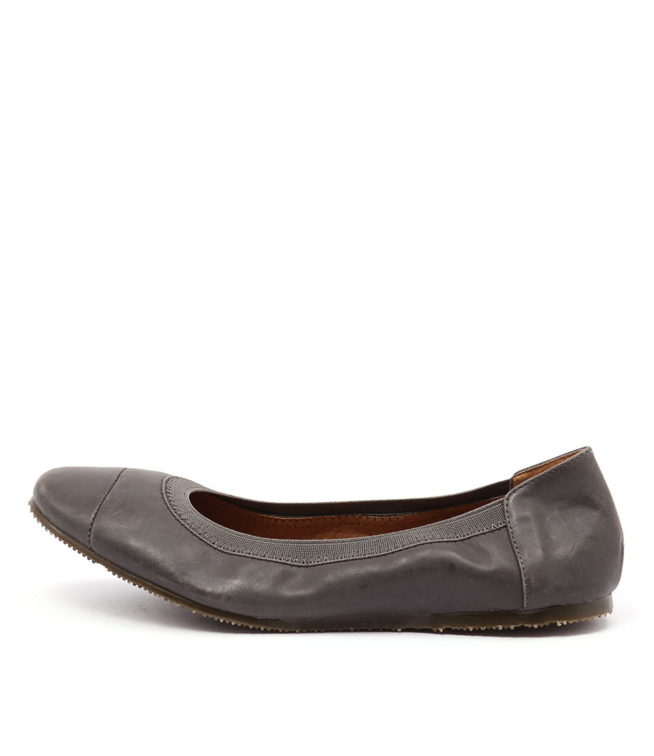 Walnut Ava Ballet Charcoal Flat Shoes