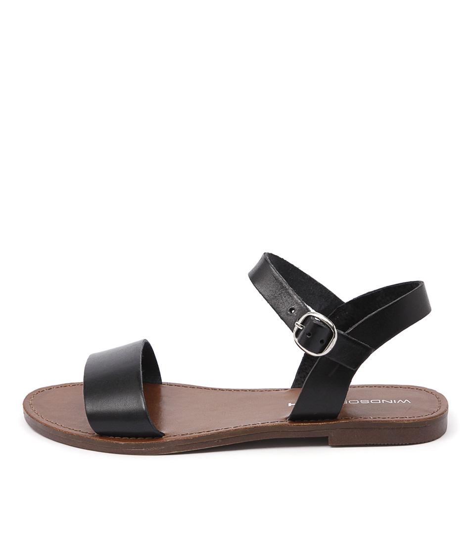 Windsor Smith Bondi Ws Black Casual Flat Sandals