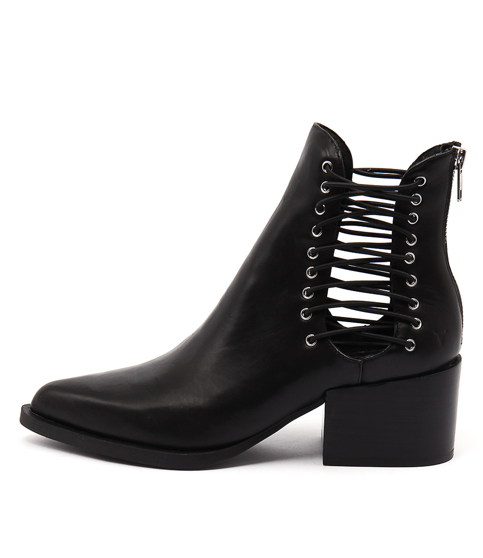 Windsor Smith Edme Black Casual Ankle Boots